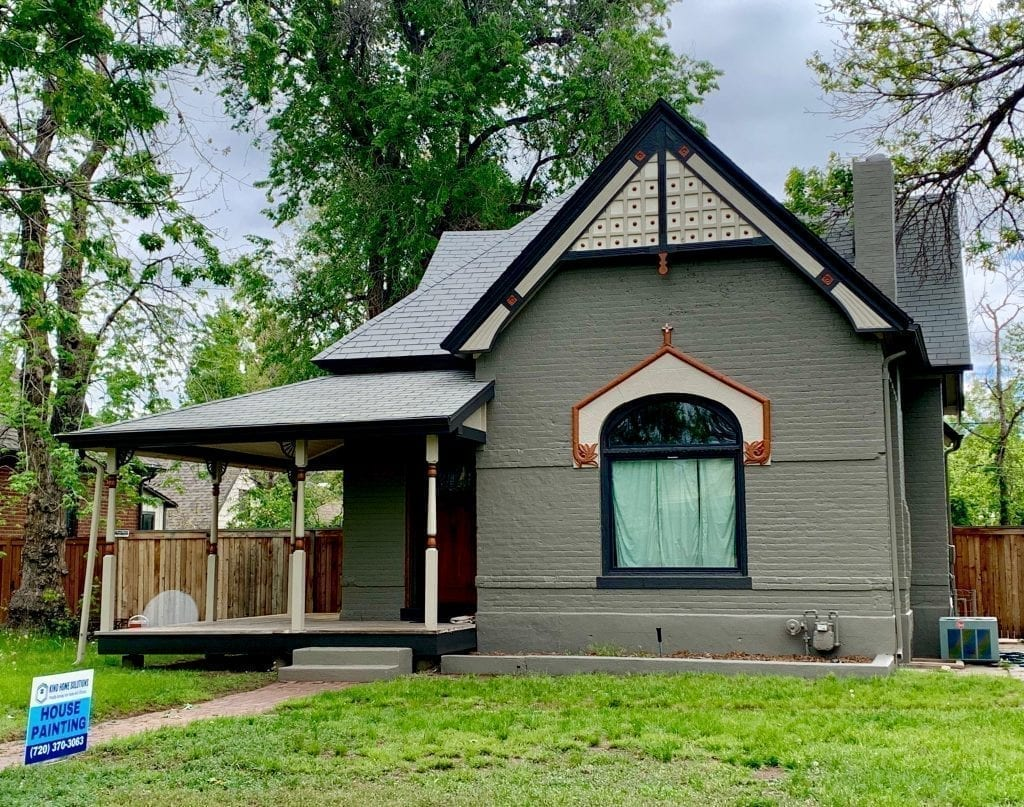 Completed house painting job in Denver.