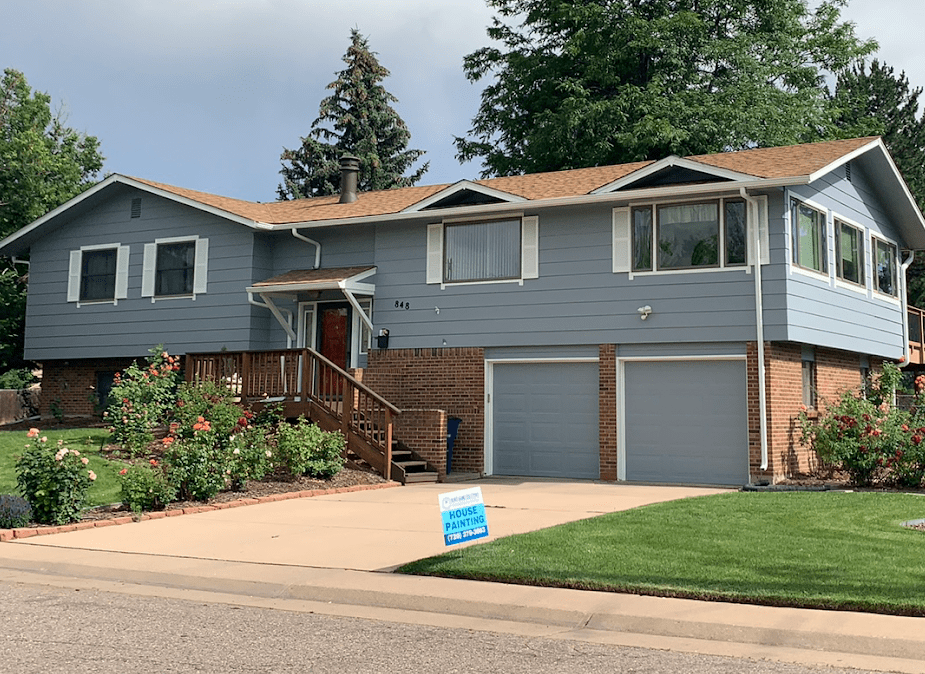 Completed house painting job in Centennial.