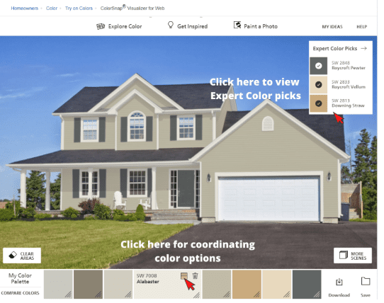 How To Use The Sherwin Williams Color Visualizer Tool Paint Color Help