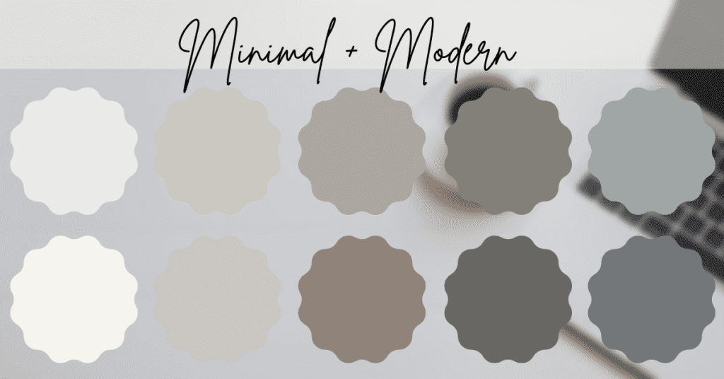 Paint colors from the minimal and modern line: Sherwin Williams Emerald Designer Edition.