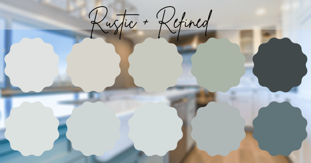 Paint colors from the rustic and refined line: Sherwin Williams Emerald Designer Edition.
