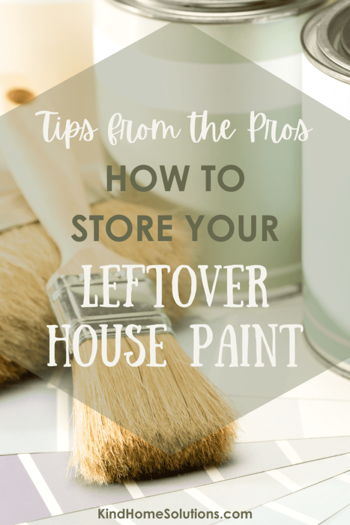 how to store your leftover paint.
