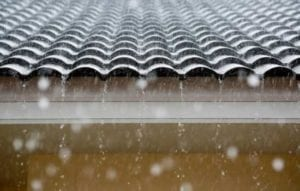 image of a rainy roof