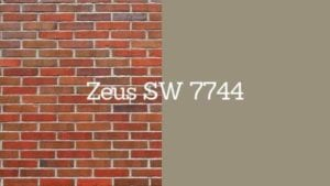 zeus 7744 paint swatch next to brick with swatch title