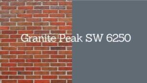 granite peak paint swatch next to brick with swatch title