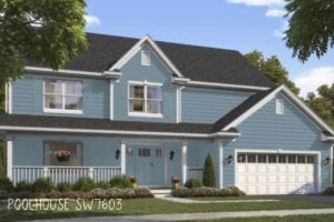 Sw colorsnap visual of home: paint color Poolhouse
