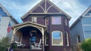 Burgundy painted denver exterior painted by kind home solutions