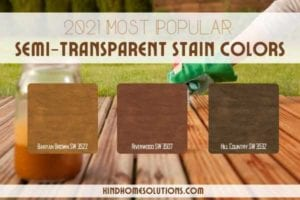 most popular semi transparent stain colors