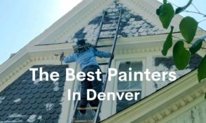 Title card of a photo of a painter with text overlayed reading: The Best Painters In Denver