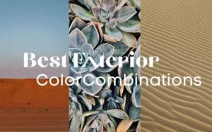 title page of landscape with text reading: best exterior color combinations